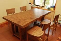 兵庫県T様邸タモ一枚板テーブル