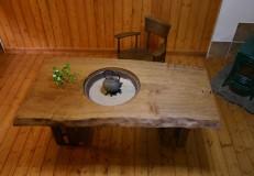 楢囲炉裏テーブル(箱脚)