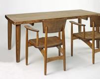 栗テーブル4本脚