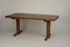 栗テーブル2本脚